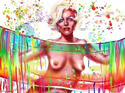 Marilyn Monroe Nude Poster by Daniel Janda