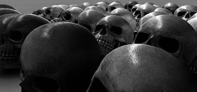 Massacre Of Skulls Poster by Allan Swart