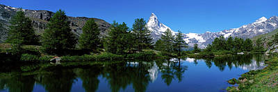 Matterhorn Reflecting Into Grindjisee Poster by Panoramic Images
