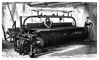 Mechanical Loom Poster by Science Photo Library