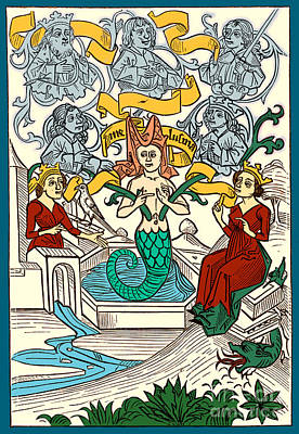 Melusine Legendary Creature Poster by Photo Researchers