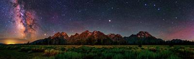 Milky Way Over Grand Teton National Park Poster by Babak Tafreshi