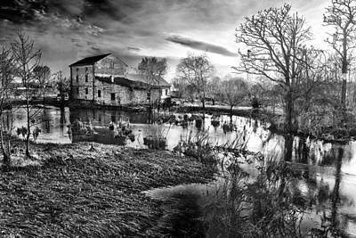 Mill By The River Poster by Jaroslaw Grudzinski