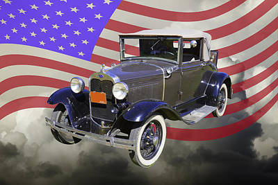 Model A Ford Roadster Convertible Antique Car Poster by Keith Webber Jr