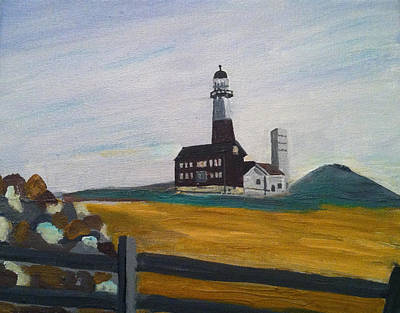 Montauk Lighthouse Fence Poster by Joe Ballone