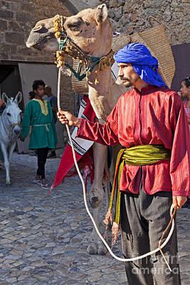Moorish Man With Dromedary  Poster by Jose Elias - Sofia Pereira