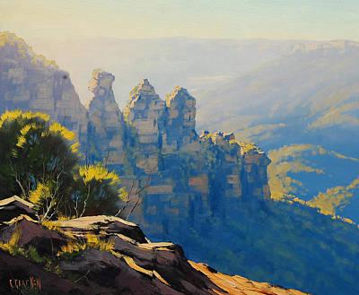 Morning Light Three Sisters Poster by Graham Gercken