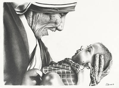 Mother Teresa Poster by Jon Cotroneo
