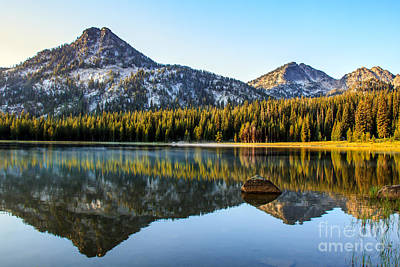 Mountain Reflections Poster by Robert Bales