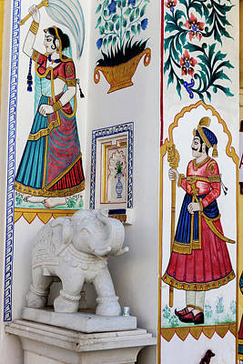 Mural City Palace Shiw Nivas Palace Poster by Tom Norring