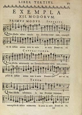 Music Theory Poster by Middle Temple Library