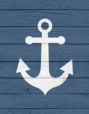 Nautical Anchor Poster by Tamara Robinson