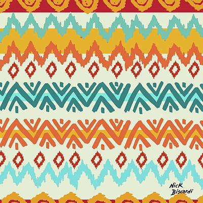 Navajo Mission Round Poster by Nicholas Biscardi