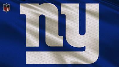 New York Giants Uniform Poster by Joe Hamilton