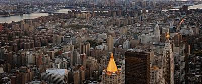 New York Manhattan Landscape Poster by Marianna Mills