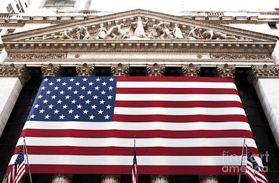 New York Stock Exchange Poster by John Rizzuto