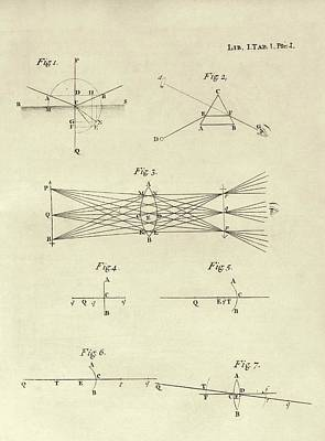 Newton's Optics Poster by Middle Temple Library