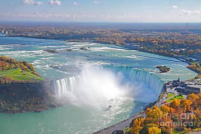 Niagara Falls Autumn Poster by Charline Xia