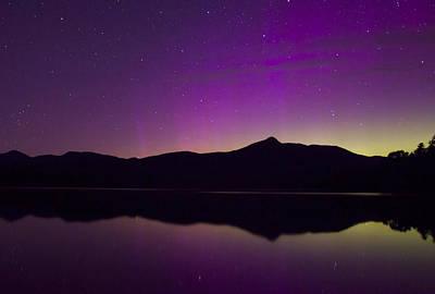 Northern Lights Over Mount Chocorua Poster by John Burk