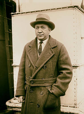 Notre Dame's Legendary Head Coach Knute Rockne On A Ship's Deck -1920s Poster by Mountain Dreams