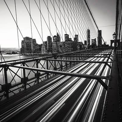 Nyc Brooklyn View Poster by Nina Papiorek