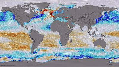 Ocean Surface Co2 And Winds Poster by Nasa's Scientific Visualization Studio