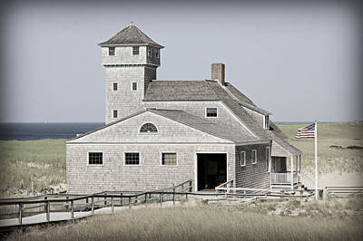 Old Harbor Lifesaving Station -- Cape Cod Poster by Stephen Stookey