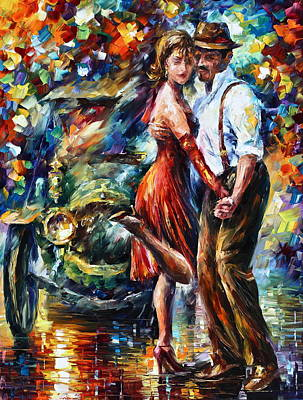 Old Tango Poster by Leonid Afremov