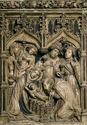 Oller, Pere 15th Century. Altarpiece Poster by Everett