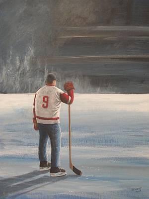 On Frozen Pond - Gordie Poster by Ron  Genest