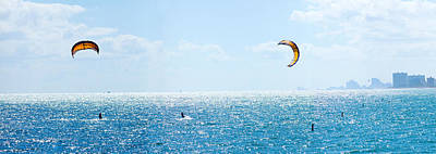 Parasailing Over The Atlantic Ocean Poster by Panoramic Images