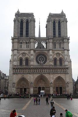Paris France - Notre Dame De Paris - 01135 Poster by DC Photographer