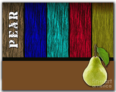 Pear Poster by Marvin Blaine