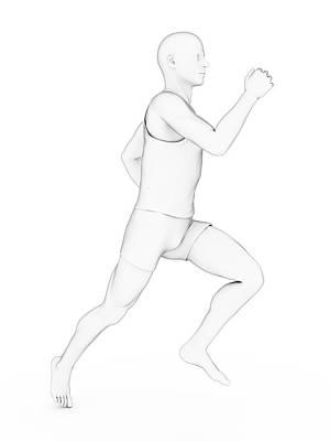 Person Jogging Poster by Sebastian Kaulitzki