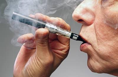 Person Smoking E Cigarette Poster by Victor De Schwanberg