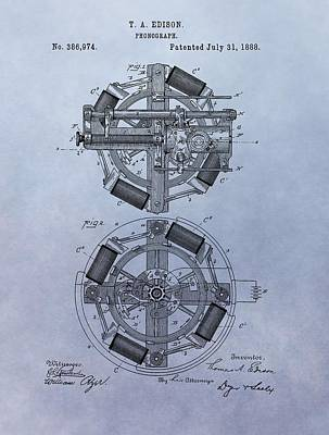 Phonograph Patent Poster by Dan Sproul