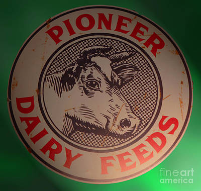 Pioneer Dairy Feeds Poster by Steven Parker