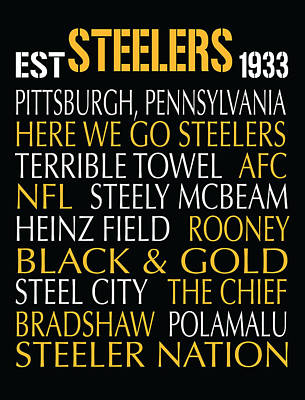 Pittsburgh Steelers Poster by Jaime Friedman