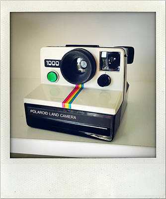 Polaroid Camera.  Poster by Les Cunliffe