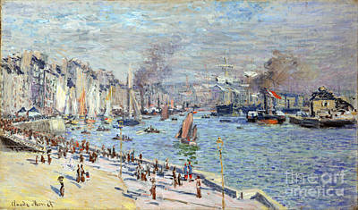 Port Of Le Havre Poster by Claude Monet