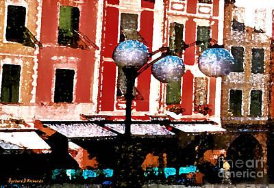 Portofino Cafe Poster by Barbara D Richards