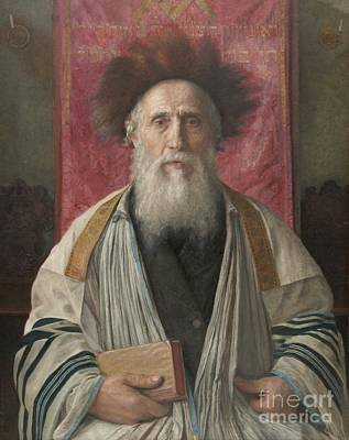 Portrait Of A Rabbi Poster by Celestial Images