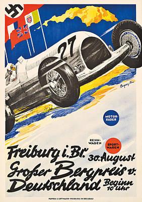 Poster Advertising The Grosser Bergpreis Grand Prix Poster by German School