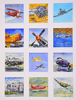 Prop Planes Poster by Betsy Aguirre