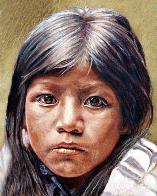 Pueblo Girl Poster by Stu Braks