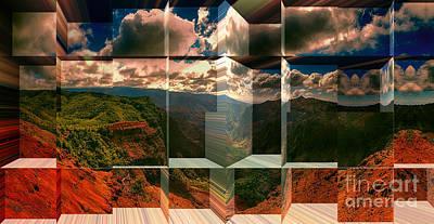 Puu Hinahina Lookout-waimea Canyon Kauai Hawaii Poster by Douglas Barnard