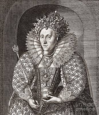 Queen Elizabeth I, English Monarch Poster by Middle Temple Library