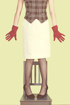 Red Gloves Poster by Joana Kruse
