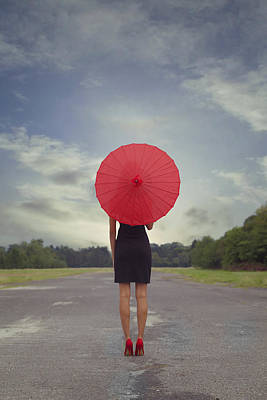 Red Parasol Poster by Joana Kruse
