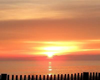 Red Sky In Morning... Poster by Kim Bemis